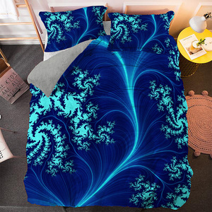 Psychedelic Boho Bedding Set 2/3PCS Pillowcase Covers Duvet Cover Bedclothes Single Twin Full Queen King Size Drop Shipping