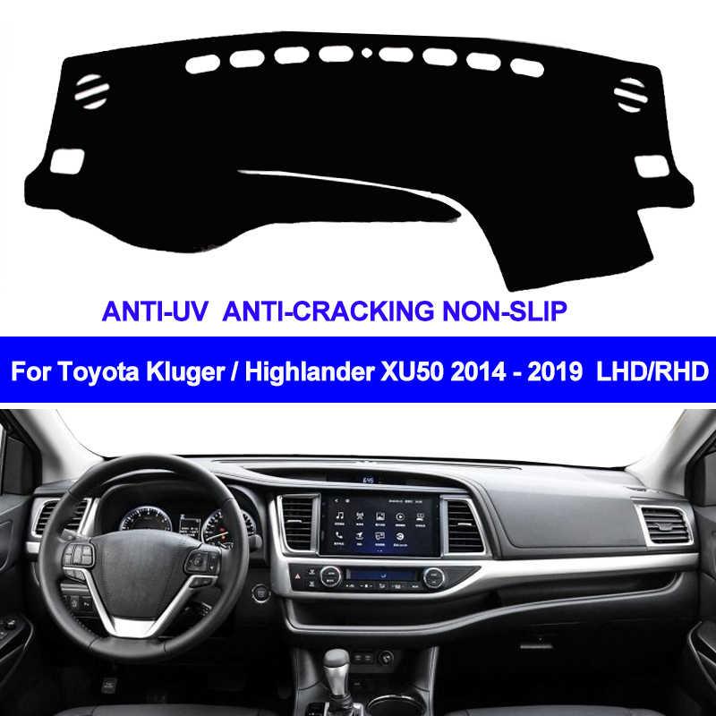 TAIJSแดชบอร์ดแผงควบคุมรถยนต์Dash MAT Dash Pad DashMatพรมAnti-UV NON-SLIPสำหรับToyota Highlander 2014 2015 2016 2017 2018