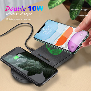 Image 2 - 20W Fast Wireless Charging Station For Samsung S20 S10 Dual 10W 2 in 1 Wireless Charger Pad for iPhone 11 XS XR X 8 Airpods Pro