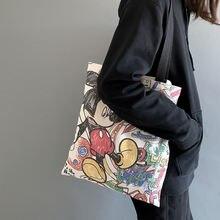 Disney Новая тканевая сумка женская на одно плечо с мультяшными