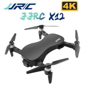 JJRC X12 4K bezszczotkowy silnik RC Drone WIFI 1KM FPV kamera hd przeciwwstrząsowy 3 osi Gimbal Quadcopter VS X8 helikopter RC Dron zabawki