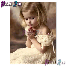 5d Diamond painting Little girl praying Diy full Square/round Rhinestones cross stitch embroidery picture Modern Girl gift