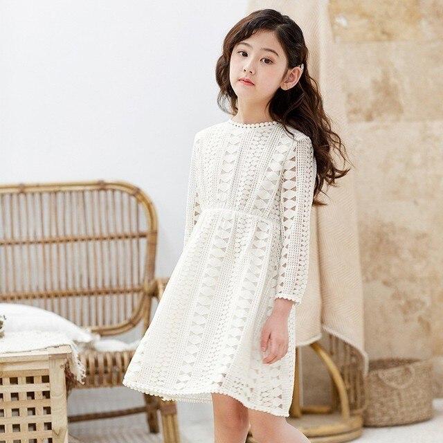 Фото детское кружеввечерние платье с длинным рукавом на возраст 6