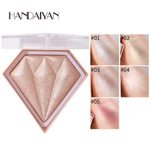 HANDAIYAN Diamond Highlighter Makeup Facial Brightening Face Contour Shimmer Powder Nose Shadow Highlight Cosmetic
