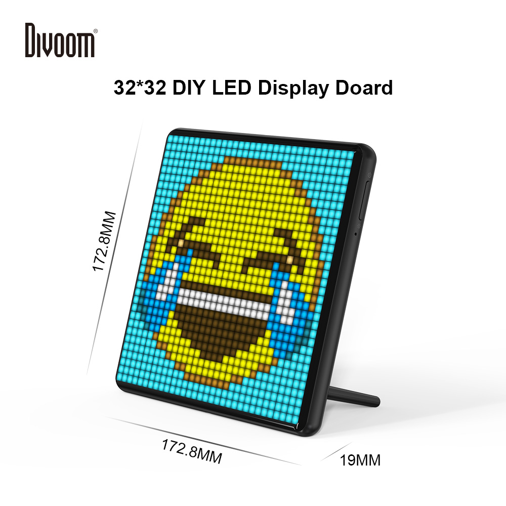 Divoom Pixoo Max Digital Photo Frame con 32*32 Pixel Art Programmabile Auto Display A LED A bordo, regalo di natale per i bambini, luce della decorazione