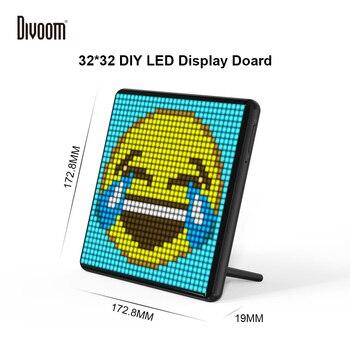 Divoom Pixoo Max marco de fotos Digital con 32*32 imagen de píxel programable tablero de pantalla LED de coche, regalo de Navidad para niños, decoración de luz
