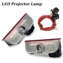 2 pçs carro substituir decorativa lâmpadas porta do carro luzes de boas vindas para vw jetta mk5 mk6 mk7 golf 5 6 7 passat b6 b7 cc eos touareg