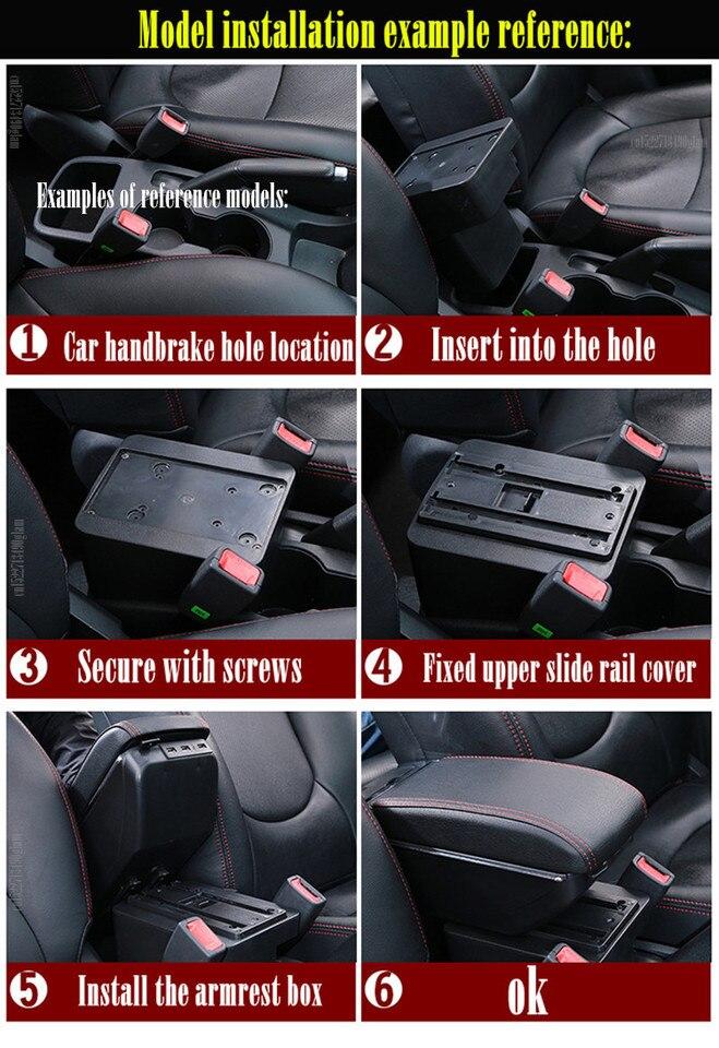 FFLSDR for Gli Accessori di Modifica Opel Corsa Box Bracciolo Opel Corsa D Universal Car Bracciolo Centrale Storage Box Color Name : A Black White Line