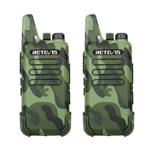 2pcs RETEVIS RT22 Professional Handy Walkie Talkie Mini FRS VOX USB Charge UHF Two Way Radio Comunicador Transceiver Woki Toki