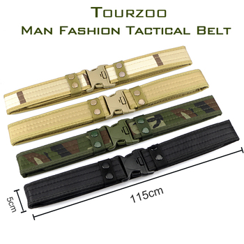 Army Style Combat Belts Quick Release Tactical Thickened Widen Belt Fashion Men Canvas Waistband Outdoor Hunting Accessories 5
