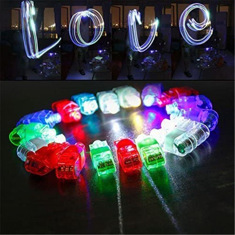 LED Finger Lights 100 Pack Finger Ring Glow Sticks for Kids Adults Bright Party Favors Party Supplies for Holiday Light