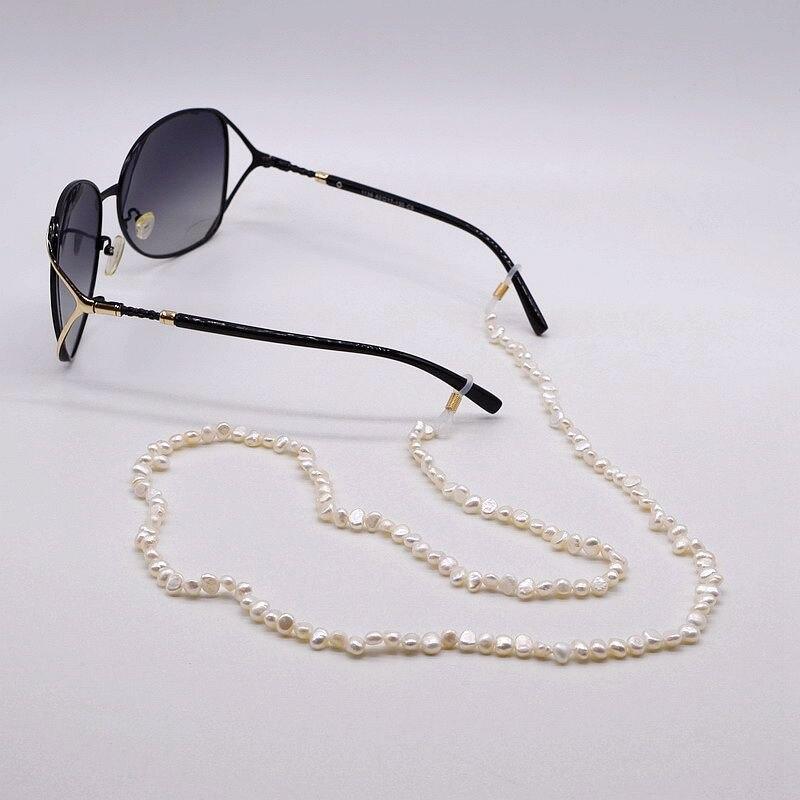 Chaîne de lunettes de perles. 10 pièces par paquet. Perle baroque naturelle. Chaîne de lunettes créative, accessoires de lunettes de soleil - 2