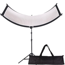 GSKAIWEN U shaped 4In1 Reflector Diffuser for Studio Camera Video Photography with Tripod and Portable bag (Silver/ Black/WH/GD)