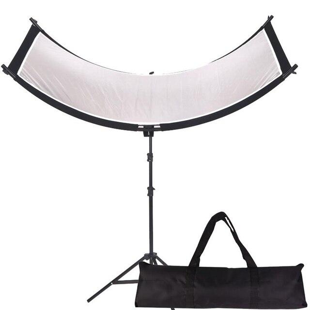 Gskaiwen u字型 4In1 ンスリフレクターディフューザースタジオカメラビデオ写真三脚とポータブルバッグ (シルバー/黒/wh/gd)