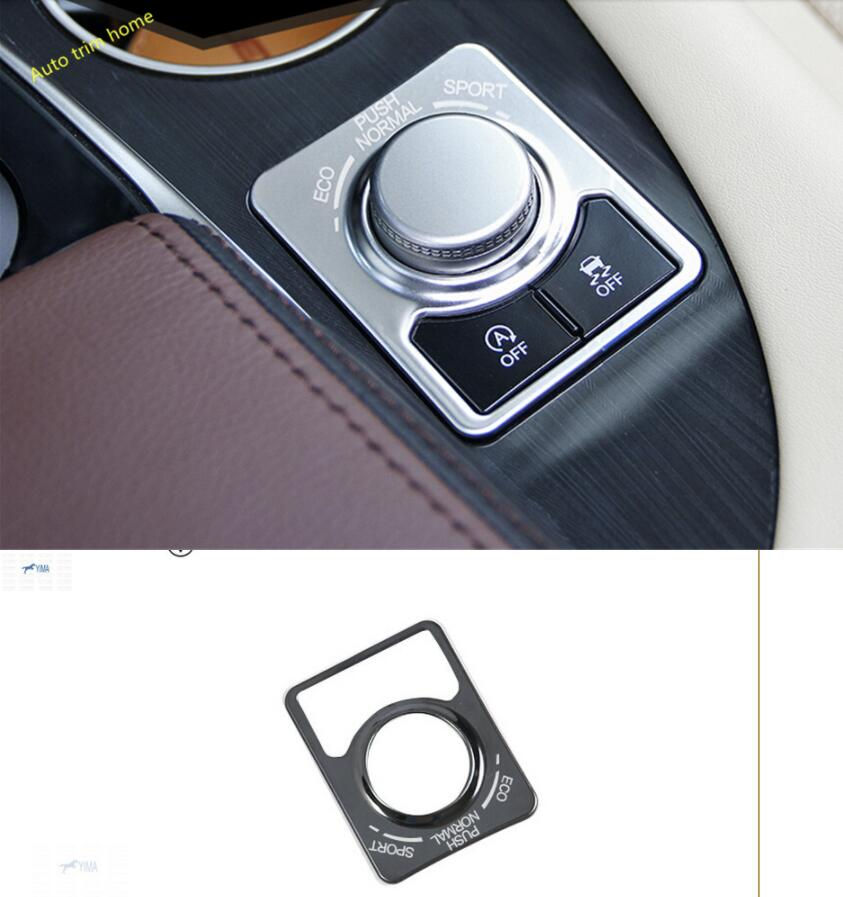 Lapetus Central Control Panel Cover Trim 1 Pcs Fit For Lexus <font><b>RX200t</b></font> RX450h 2016 2017 2018 2019 / Stainless Steel image