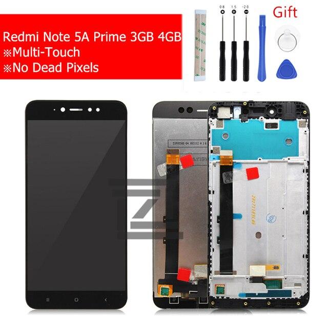 Dla Xiaomi Redmi Note 5A Prime Pro 3GB wyświetlacz LCD ekran dotykowy z ramą wymiana zespołu Digitizer wymień części