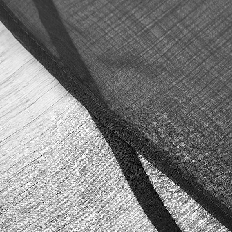Женская шаль-накидка в стиле панк, черная, прозрачная, с открытым ПЕРЕДОМ