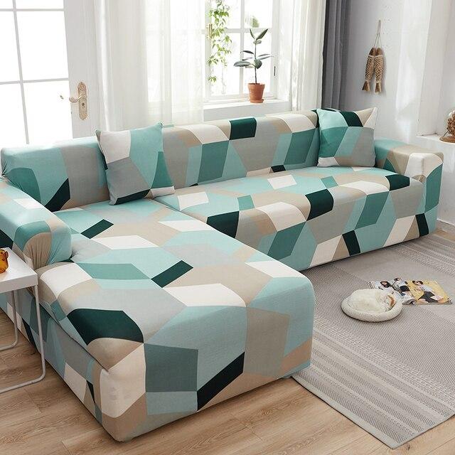 L צורת ספה מכסה ספנדקס לסלון אפור ריפוד למתוח ספת כיסא כיסוי פינת ספת ספת כיסוי אלסטי funda ספה