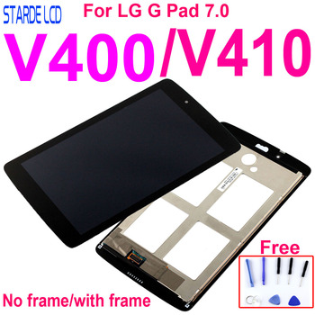 For LG G Pad 7.0 V400 V410 LCD Display Digitizer Screen Touch Panel Sensor Assembly Replacement Parts for lg g pad lg v700 vk700 v700 touch screen digitizer glass replacement free shipping