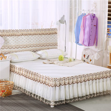 1 pc Bed skirt 2 pcs Pillowcases Nordic Multi-layer Pleated Princess Lace Skirt sheet set