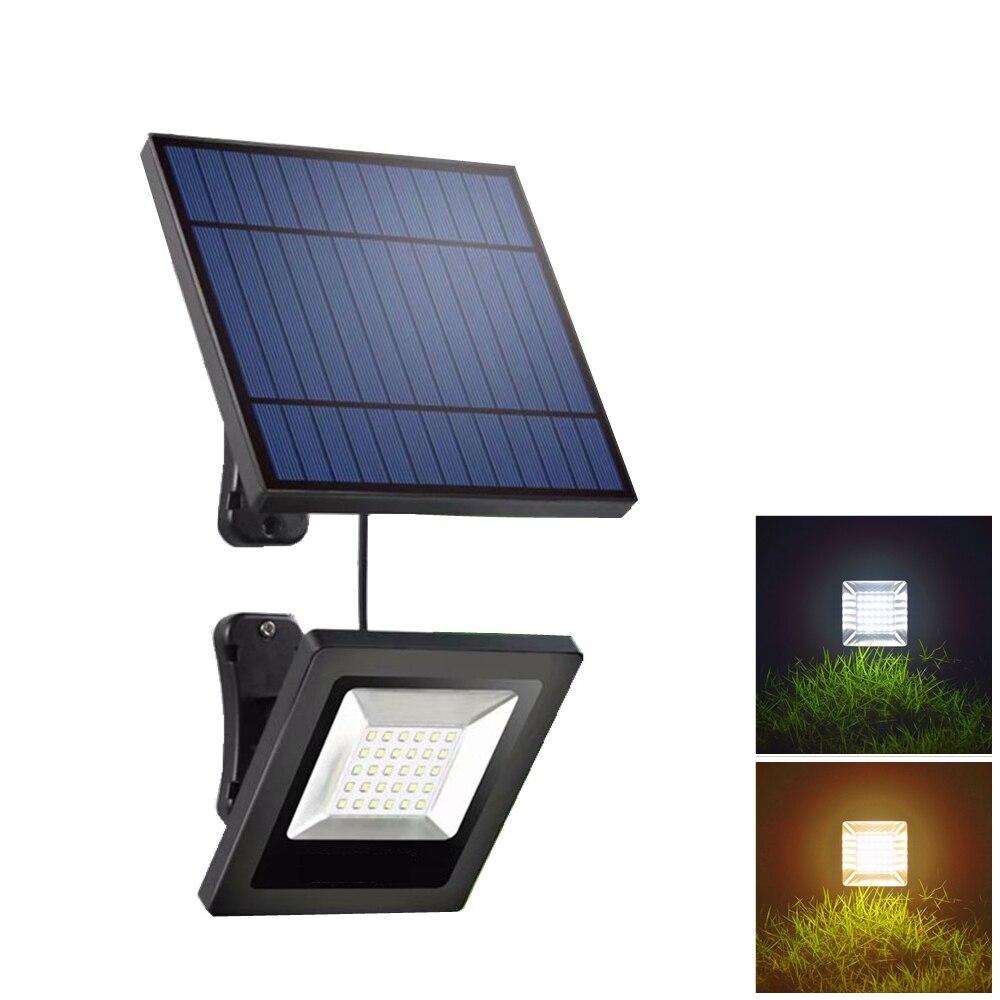 Lampe solaire de jardin 30LED avec panneau, projecteur de jardin à câble 3/5 mètres, lampe solaire, étanche pour l'éclairage solaire de l'extérieur
