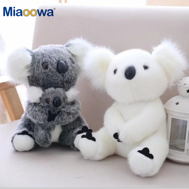 13-28cm Kawaii Simulation Australia Koala Plush Toy Stuffed Animal Doll Mom Baby Kids Infant Girls Toys Birthday Gift Home Decor(China)