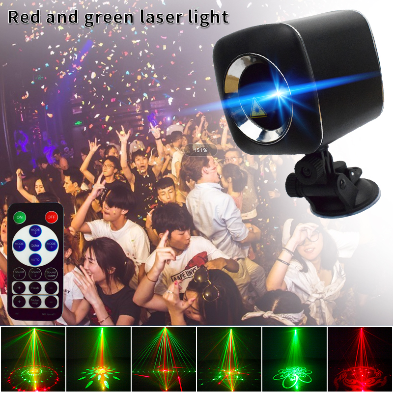 YSH Laser Projector Sky Star Spotlight Showers Landscape DJ Disco Lights R&G Garden Lawn Christmas Party Lighting