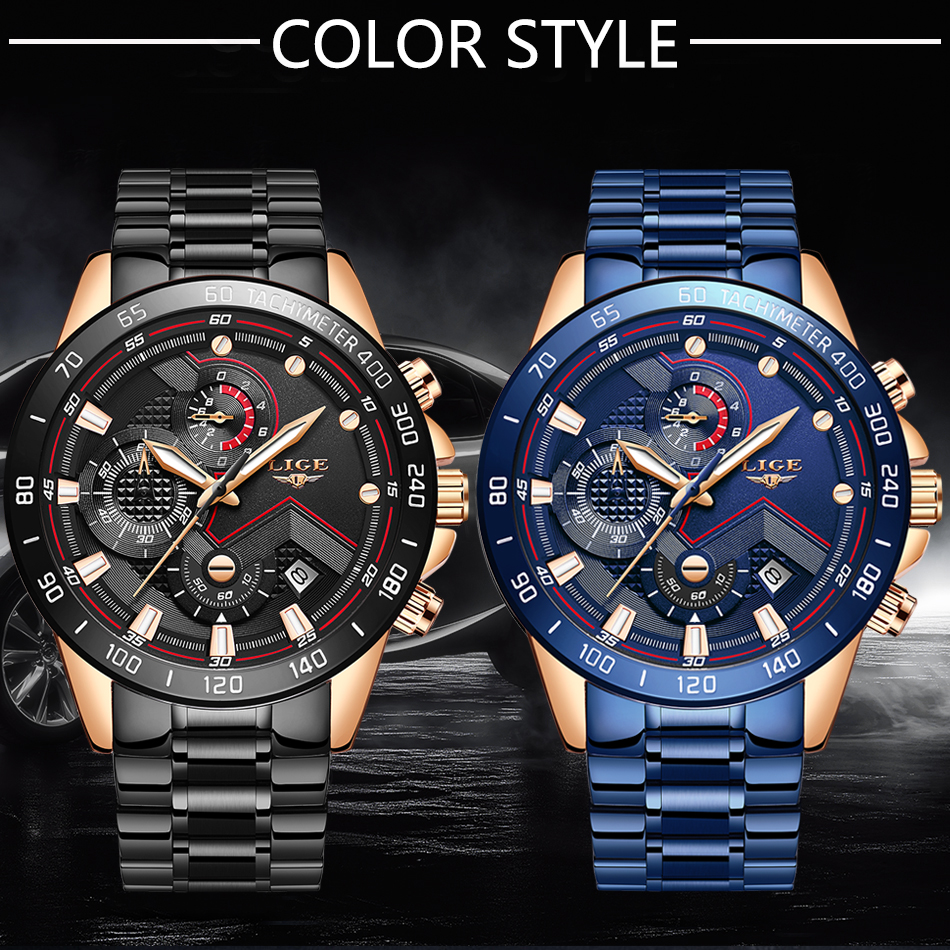 Ha56830f52ef94a6c890aedd3501bc638j LIGE Men Watches Top Brand Luxury Stainless Steel Blue Waterproof Quartz Watch Men Fashion Chronograph Male Sport Military Watch