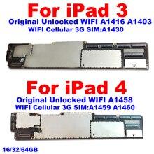 A1403 / A1416 או A1430 Mainboard עבור ipad 3 האם מלא שבבים, a1458 A1459 מקורי Unlockfor ipad 4 לוח ההיגיון
