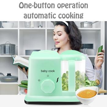 5-in-1 Baby Food Maker Processor With Steam Cooker Blender Defroster Heating Disinfection Multi-functional Food Processor
