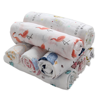 Baby muselina Swaddles suave recién nacido mantas de baño edredón de gasa 100% de algodón infantil envolver Sleepsack Play Mat deken de bebé