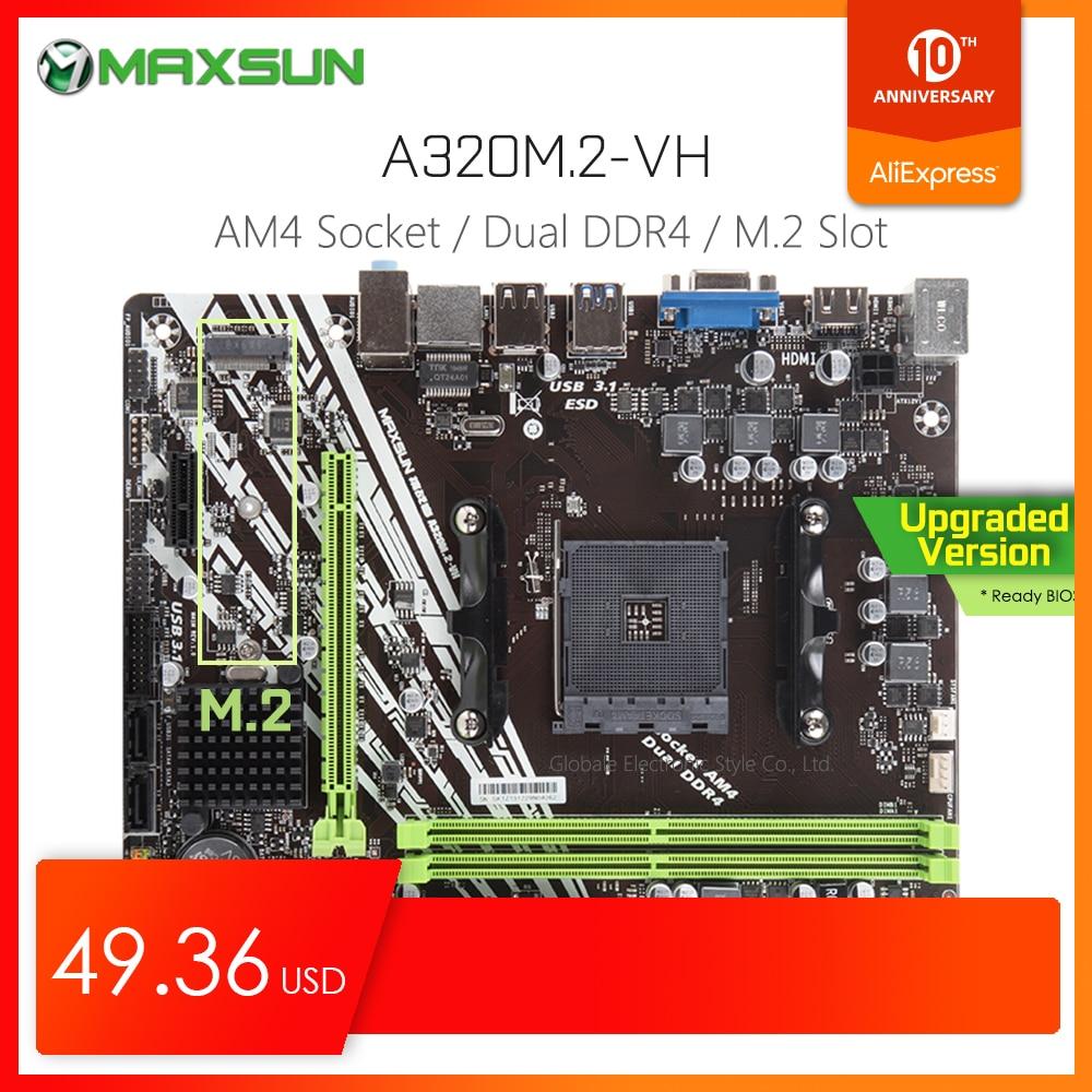 Original MAXSUN Challenger II A320M.2 VH AMD Motherboard AM4 MATX Dual Channel DDR4 1000M LAN SATA3.0 USB3.1 VGA HDMI NVME SSD