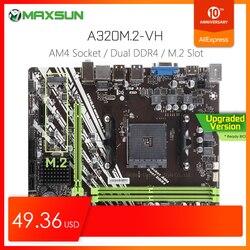 Orijinal MAXSUN Challenger II A320M.2 VH AMD anakart AM4 mATX çift kanal DDR4 1000M LAN SATA3.0 USB3.1 VGA HDMI NVME SSD