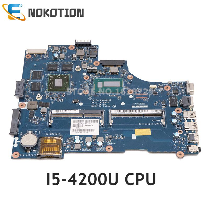 NOKOTION ZAL00 LA-A491P CN-0TXW71 0TXW71 Mainboard For <font><b>Dell</b></font> Latitude <font><b>3540</b></font> laptop motherboard SR170 i5-4200U CPU HD 8850M GPU image
