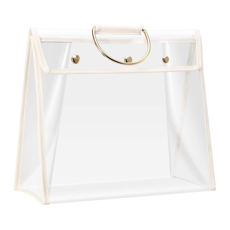 Clear Dust Proof Bag Transparent Dust Bag Organizer Purse Handbag Protector with Magnetic Snap|Clothing Covers| |  - title=