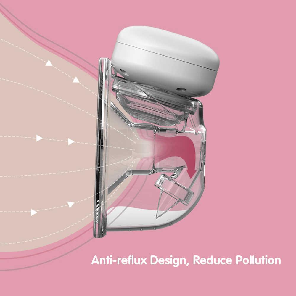 Mikiya Elektrische Milchpumpe Doppel Silent-Wearable automatischer Melker Hands-Free Portable Milk Extractor USB Chargable