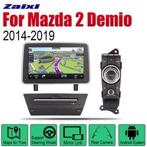 ZaiXi Android автомобильный DVD GPS Navi для Mazda 2 Demio 2014 ~ 2019 плеер навигация WiFi Bluetooth Mulitmedia система аудио стерео эквалайзер