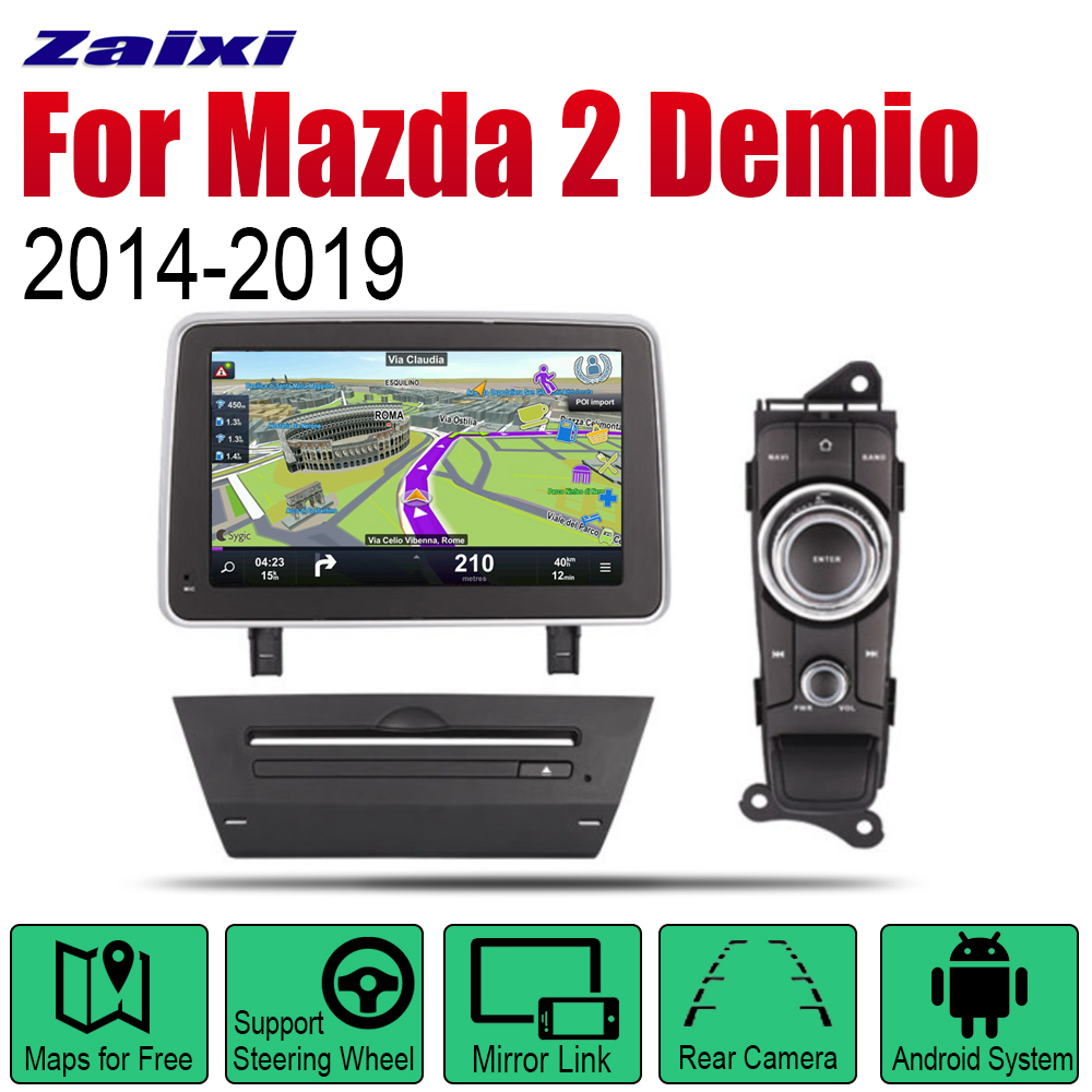 ZaiXi Android Car DVD GPS Navi for <font><b>Mazda</b></font> <font><b>2</b></font> <font><b>Demio</b></font> 2014~2019 player Navigation WiFi Bluetooth Mulitmedia system audio stereo EQ image