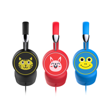 Noise Cancelling Kids Headphones Cute Wired Adjustable Headband Foldable Cartoon Music Headset Comfortable Wearing