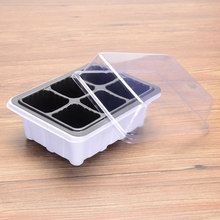 6/12 Grids Nursery Pot Planting Seed Tray Kit Plant Germination Box with Dome and Base Garden Grow Box Gardening Bonsai(China)