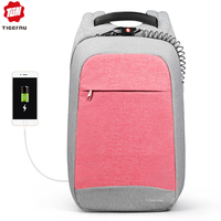 Multi Fashion Female Feminina Mochila Pink 15.6 Laptop Anti theft Backpacks Travel Women School Backpack for Girls Business Bag