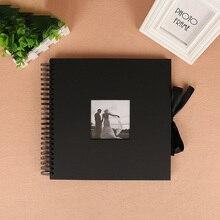 Black Photo Album DIY Scrapbook Valentines Day Gifts Wedding Book Craft Anniversary Travel Memory Scrapbooking Lover Wedding