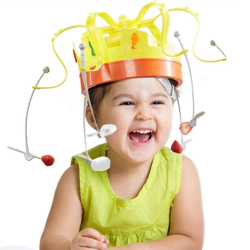 Novelty Rotating Crown Hat Game Puzzle Toy Parent-Child Interaction Improving Focus Ability Competitive Game Fun Interaction