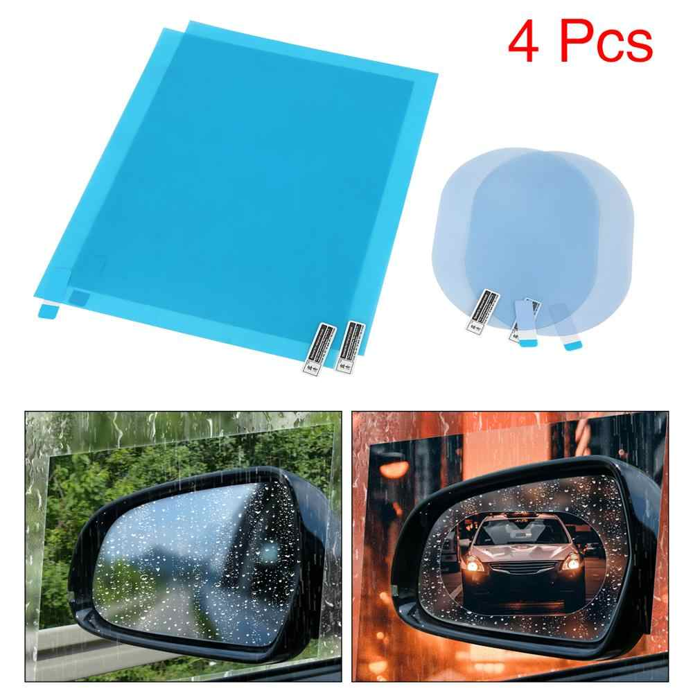 X AUTOHAUX 4pcs 95x95mm 145x100mm Car Rearview Mirror Anti Rain Film Waterproof Clear Protective Sticker