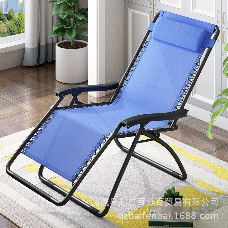 For Office Single Person Siesta Bed Folding Portable Lazy Room Recliner Siesta Outdoor Beach Chair Hospital Accompanying Chair