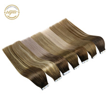 Tape-In Human-Hair-Extensions Color-Hair Ugeat Balayage 100g/40pcs-Machine 14-24-