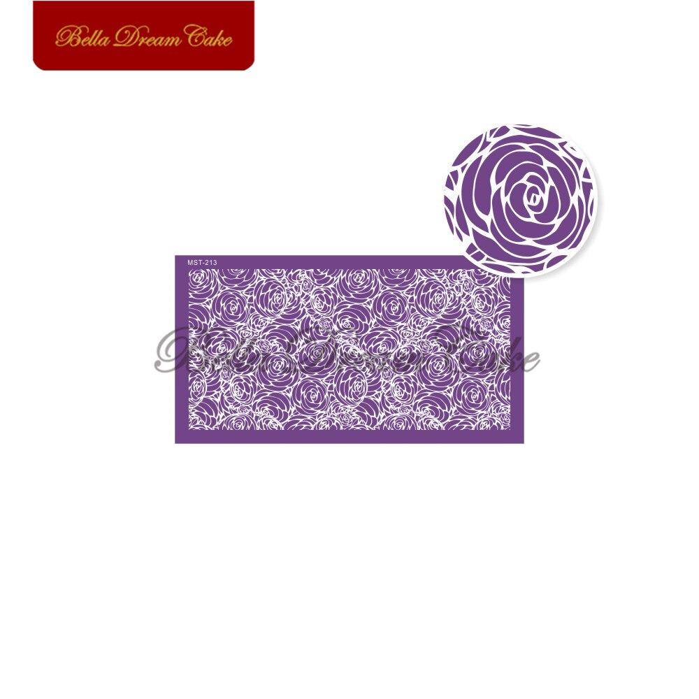 Купить розовый букет кружева дизайн торт трафарет сетки трафареты свадебный