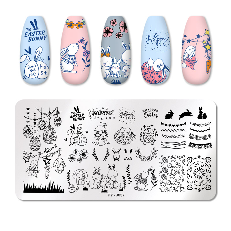 PICT YOU 12*6cm Nail Art Templates Stamping Plate Design Flower Animal Glass Temperature Lace Stamp Templates Plates Image 69