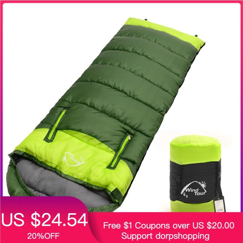 190x75cm acampamento ultraleve saco de dormir envelope saco de dormir inverno ao ar livre dormir cama