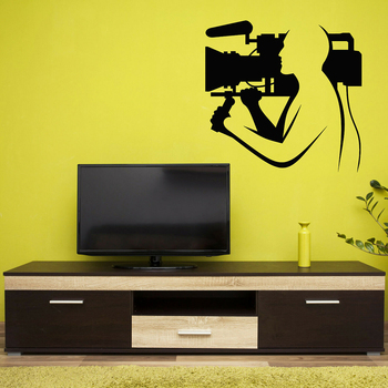 Cinematography Vinyl Wall Decal Camera Film Director Cameraman Stickers Posters Removable Self Adhesive Mural Room Decor A502 image